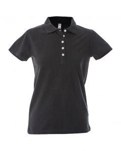 Polo Dubai Lady-100% Cotone Jersey Pettinato-Black-XL