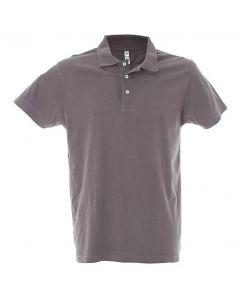Polo Dubai Uomo-100% Cotone Jersey Pettinato-XXL-Dark Grey