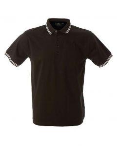 Polo Maiorca Uomo-Black-100% Cotone Jersey Pettinato-XXL