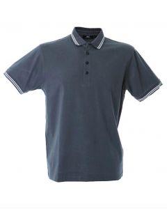 Polo Maiorca Uomo-Dark Grey-100% Cotone Jersey Pettinato-S
