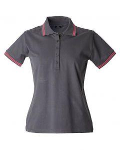 Polo Minorca Lady-Dark Grey-100% Cotone Jersey Pettinato-L