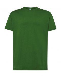 Regular T-Shirt Uomo-Bottle Green-100% Cotone-XS