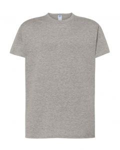 Regular T-Shirt Uomo-Grigio Melange-100% Cotone-XS